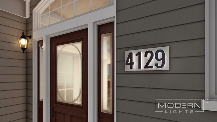 Illuminated House Address Numbers